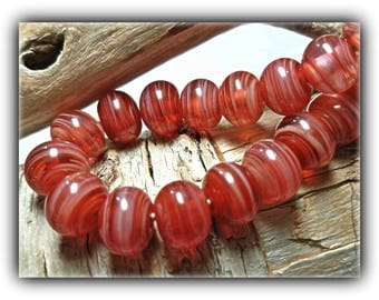 Sweet Apricot Lampwork Bead Accents