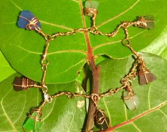 Mermaid mountain dewdrops bracelet.