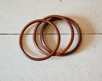 Vintage Faux Wood Bangles || Set of Three Bracelets