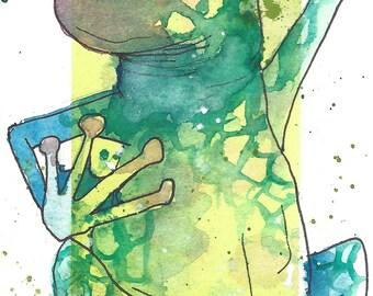 Bookmark frog (PRINT)
