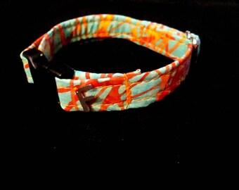 Florida Sunset Adjustable FabWrist Bracelet, One Size Fits Most, FabWrist, Fabric Bracelet, Handmade, One Of A Kind, Fabric Accessory