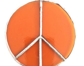 """3"""" Stained Glass Peace Sign Sun Catchers"""
