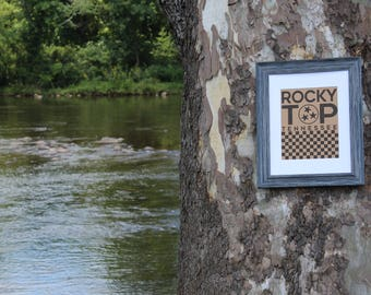 Rocky Top - University of Tennessee with Checkered Board