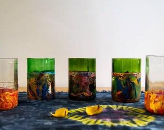 Green Textured Bottle Vase