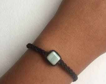 Beaded Leather Braided Bracelet