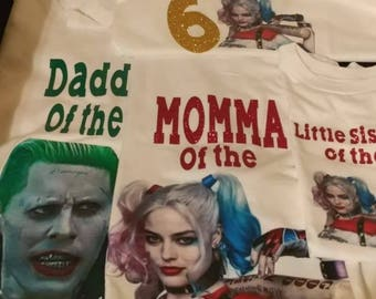 Harley Quinn Birthday shirts