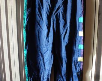 Vintage Sport Pants/Pants With Elastic Waist/Trefoil Trousers/90's Windbreakers/Sport Trousers/Vintage Activewear/XXL Size