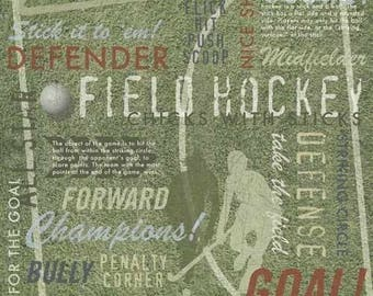"Field Hockey - Sports - Custom Selected 12"" x 12"" Scrapbook Paper Set Themed Papers - Our Favorites"