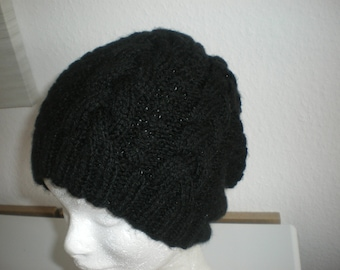 Hat Black wool, woman, hand made in ALSACE