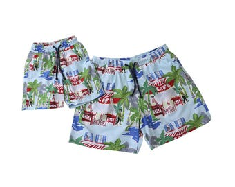 "Swim shorts ""Hawaii"", Partnerlook father son set price!"