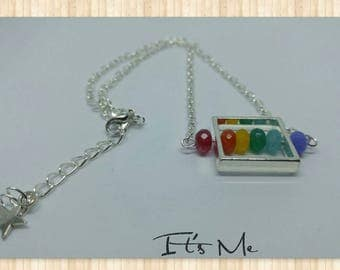 "Necklace ""Rainbow dial"""