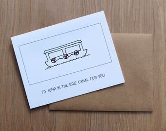 Erie Canal Greeting Card