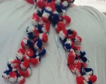 Patriotic Flower Scarf