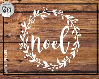 NOEL SVG dxf EPS Png, Snowflake svg, Christmas Ornament, dxf, cut file for Cricut & Silhouette, christmas sign, Christmas wreath