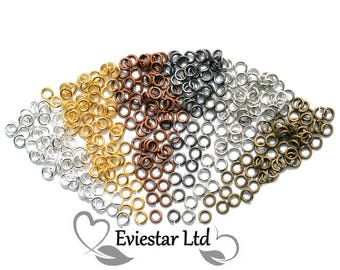 Brass Open Jump Rings 5mm Diameter, Thick 1mm, Jewellery Findings, Close but Unsoldered, Multi Colors Available, MSJR1