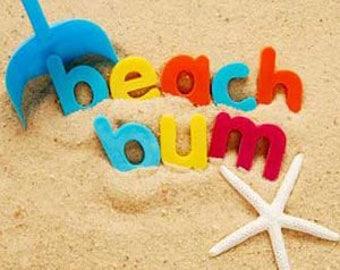 Beach Bum - 100% Organic Soy Wax Candle - 8oz. Candle - Hand Poured Beezwax Hemp Wick