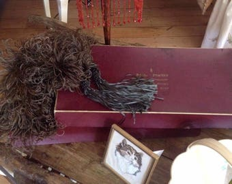 1920's Parisian feather boa with box