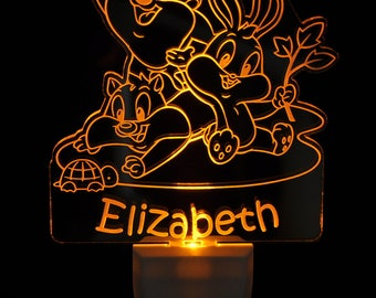 Baby Looney Tunes Light Sensor LED Plug In Night Light, Personalized Custom LED Nightlight