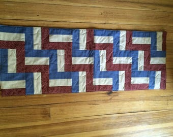 Americana Patriotic Quilted Table runner