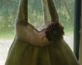 Beautiful burlap bag