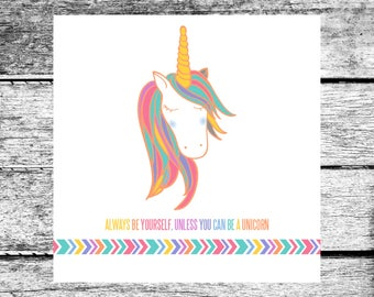 LuLaRoe Inspired Unicorn Square Business Card Home Office Approved Colors Fonts