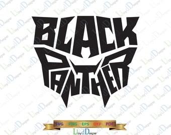 Marvel Black Panther SVG pack Black Panther Marvel svg Black Panther Helmet Mask clipart superhero Black Panther party svg eps dxf png files