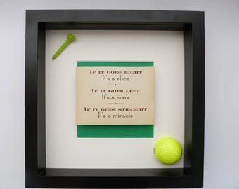 Handcrafted golf box frame