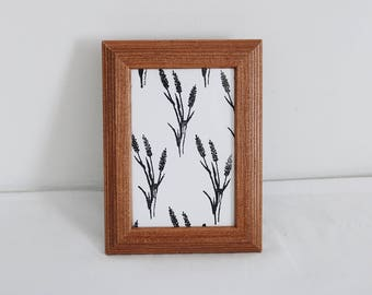 4 x 6 Wildflower Print in Brown Picture Frame