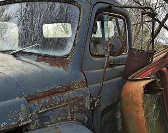 old international truck photography print gifts for men, mancave
