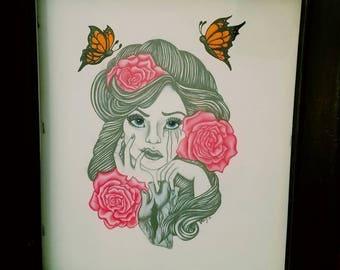 Monarch Girl Art Prints
