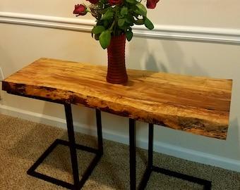 Live Edge Ambrosia Maple Table