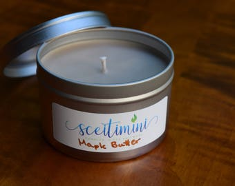 Maple Butter Soy Candle in 8oz Tin with Lid