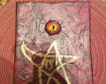 Evil spell book decoration