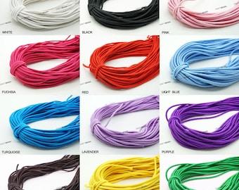 1.2MM Nylon Coated Round Elastic Cord Stretch Stretchable Beading Mala Craft String - 20 Yards