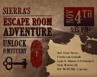 Diy western invite etsy for Diy escape room