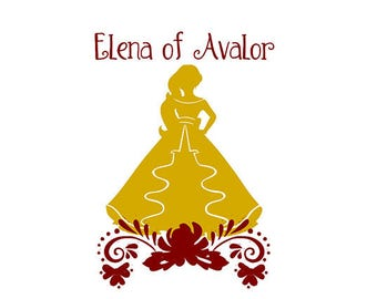 Princess Elena of Avalor Disney SVG File For Personal and Commerical Use