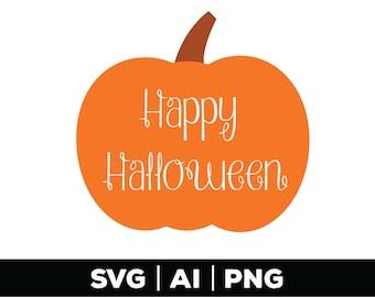 Happy Halloween SVG, Pumpkin SVG, Fall Pumpkin SVG, Halloween Svg, Fall Svg, Silhouette Cut Files, png, ai, svg