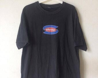 Vintage Stussy T shirt Double side Print Logo
