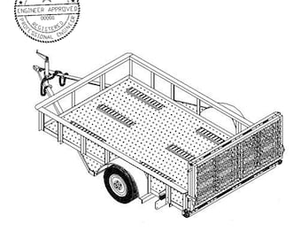 6′ x 10′ Motorcycle/ Utility Trailer Plans Blueprints - Model 10CY  | Master Plans & Designs