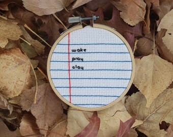 Mini Custom Cross Stitch Message (Lined Paper Design)