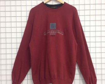 Vintage Gianni Valentino Italy Sweatshirts LL Size Nice Design