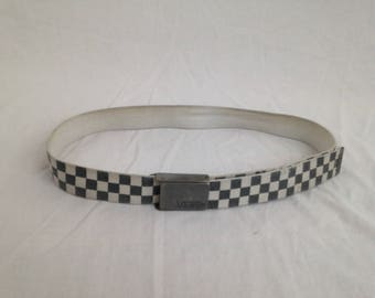 Black and white checkered belt
