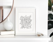to you i lift up my soul / psalm 143:8 / calligraphy print