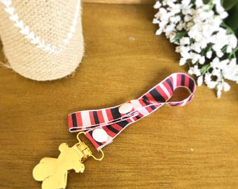 Pacifier clip. sushibaby. baby clip. ribbon clip. teether clip. teether. baby accessories. baby toy. baby shower. Baby gift. Toy clip.