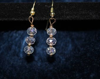 Three Tier Ball Drop Sparkling Earrings