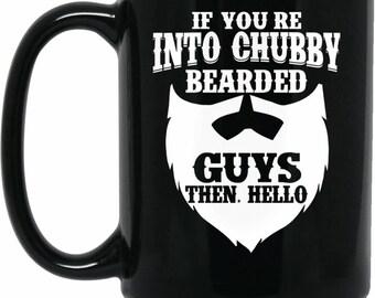 Chubby Beard Guy Black 15 oz. Mug
