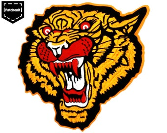 Japanese Tiger Patch Japanese Patch Tiger Back Patch Large Tiger Patch Large Patch Tiger Sew on Patch Tiger Embroidered Patch for Jacket