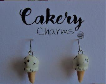 Ice Cream Earrings - Cookies and Cream, Rainbow, Bubblegum, Neapolitan, Mint Choc Chip.