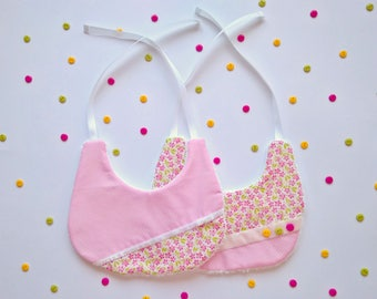Baby Bibs | Baby Girl Bibs | Baby Feeding Bib | Baby Drool Bib - Pack of 2 bibs
