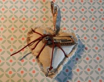 Fabric heart decoration DESTINATION unknown